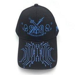 Sword art coSplay online shopping - Anime Sword Art Online Hip Hop Hats Cosplay Flat Hat Female Men Baseball Cap Snapback Caps sunhat