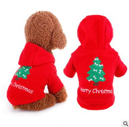 christmas outfits for dogs UK - Dog Christmas Costumes Pet Dog Hoodies Clothes Fall Winter Dog Xmas Festival Clothes Coat For Small Dogs Clothing Chihuahua Puppy Outfits