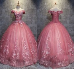 Silver quinceanera dreSSeS online shopping - 2018 Latest Ball Gown Quinceanera Dresses Off Shoulder Lace Appliques Sexy Back Lace up Special Occasion Dresses Elegant Prom Dresses