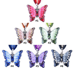 Wholesale New Vintage Butterfly Statement Necklace Charming Boutiques Charm Jewelry Lace Ribbon Rope Long Chain Alloy Retro Pendant Necklaces D0216