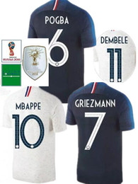 b495d0b0a 2018 World Cup champion two stars Soccer Jerseys MBAPPE GRIEZMANN POGBA  PAYET Jersey 2019 football Shirts Best Quality Add patches for free