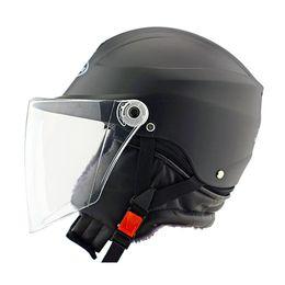 Painting Faces Australia - children motorcycle helmet Electric car Riding Half helmet Unisex winter Nuoman 301 PP is expected Shine paint matt paint