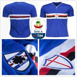 5341bc19c 2018 2019 UC Sampdoria Soccer Jersey Sala Ekdal Saponara Barreto Praet  Ramirez Caprari Quagliarella Custom Home Blue 18 19 Football Shirt