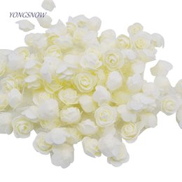 $enCountryForm.capitalKeyWord NZ - 50pcs lot 3.5cm PE Foam Rose Multi-use Artificial Flower Head Handmade With Tulle DIY Wedding Home Party Decoration Supplies