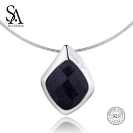 $enCountryForm.capitalKeyWord UK - SA SILVERAGE 925 Sterling Silver Choker Necklace Black Aventurine Chocker Necklaces Fine Jewelry For Women 12.58g 45mm*30mm Y1892806