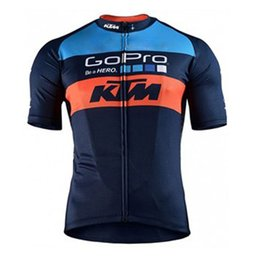 Wholesale Factory Direct Sale KTM NEW Men Summer Cycling Jersey Short Sleeve Tops Bicycle Jerseys Maillot Ciclismo Road Bike Cycling Clothing Y