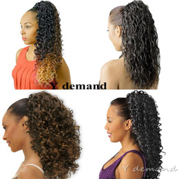 China Fashion Hair Accessories Short High Sports Ponytail Hairstyle Afro Kinky Curly Claw Ponytails For Black Women Hair Extensions Y demand cheap afro ponytail hairstyles suppliers