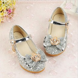 Korean Baby Shoes Canada - 2018 new children's Korean version of the high heel girls shoes girls princess shoes baby shoes