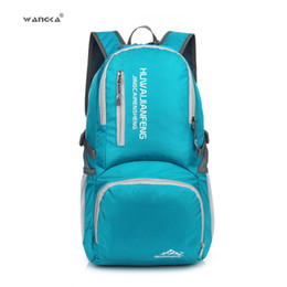 f6cce6d81c8a WANGKA Nylon Waterproof Folding Backpack Lightweight Portable Men Camping Hiking  Daypack Foldable Outdoor Bag for Women Travel
