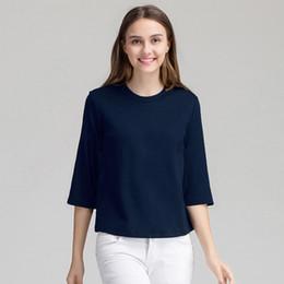 88c723980d Female Negligee Summer Solid Nightshirt Modal Sleepwear Sleep Shirt Three  Quarter Sleeve Nightwear Women Loungewear M-XL