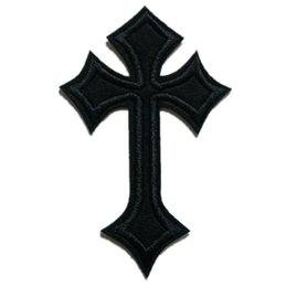 Iron crafts online shopping - Black Embroidery Patch Jesus Cross Sew Iron On Embroidered Patches Badges For Bag Jeans Hat T Shirt DIY Appliques Craft Decoration