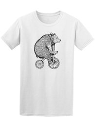 Bicycle Print Tops NZ - Circus Bear On Bicycle Sketch Men's Tee Print T-Shirt Summer Casual top tee Short Sleeves Cotton Free Shipping