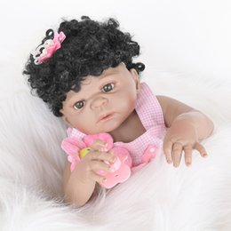 Discount cute reborn babies girls - Reborn Baby Dolls Silicone Full Body Cute Soft Baby Alive Doll For Girls Princess Kid Fashion Bebe Reborn Dolls 55cm