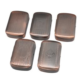 sizes cigarette boxes Canada - Metal Tobacco Box Pocket Size (85mm*55mm) Cigarettes Case Storage