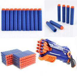 Nerf Guns Wholesale Australia - Blue EVA Soft Bullets Nerf Gun Toys Revolver Darts Suction Sniper Mini Arms Pistol Nerf Blasters Children Pocket Shot 100Pcs