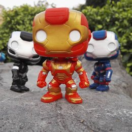 Doll Decoration games online shopping - Pop Games Figures Avengers Alliance version Iron Man Doll Patriot Decoration Model Toy Good Quality Gift