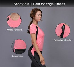 $enCountryForm.capitalKeyWord Canada - Women Yoga Set Reflective Safety Gym Fitness Clothes Tennis Shirt + Pants Running Tights Jogging Workout Yoga Leggings Sport Suit Sportswear