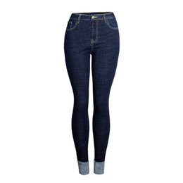 $enCountryForm.capitalKeyWord UK - Jeans for Women Cuffed Jeans High Waist Woman plus size Stretch female rolled up skinny pencil pants
