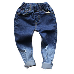0966b5fdc552 DFXD 2017 New Autumn Baby Boys Girls Gradient Color Pencil Pants Fashion  Children Jeans Kids Cotton Skinny Jeans Tousers 2-8Year