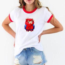 $enCountryForm.capitalKeyWord NZ - 2019 New spider pig t shirt women fashion cute pig tshirt best friends gifts Female White short sleeve t-shirt New Year's Gifts