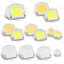 Опт Высокая мощность Cob Chip Led RGB 10 Вт 20 Вт 30 Вт 50 Вт 100 Вт RGB Белый / Теплый Белый Для Highbay Лампа уличный фонарь Бусы EPACKET