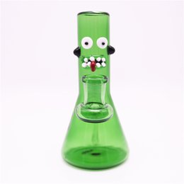 $enCountryForm.capitalKeyWord Australia - New 14mm Female Mini Glass Bong Water Pipes Pickle Beaker Bong 5.5inch Recycler Bongs Oil Rig Cucumber colorful Bubbler pipe for Smoking