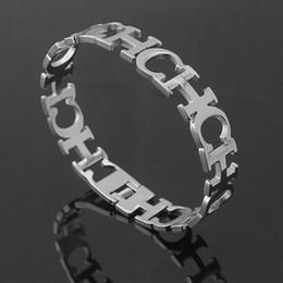 Pendientes de la letra ch de la moda y conjunto de la joyería del acero inoxidable del brazalete