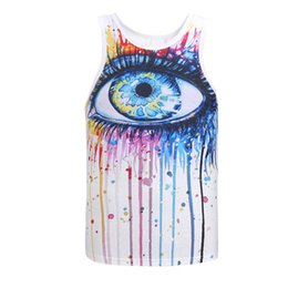 Eating cats online shopping - New Arrival Men Women d Tank Tops Summer Cool Vest Funny Print Eating Pizza Cat Space Galaxy Tees Shirts models