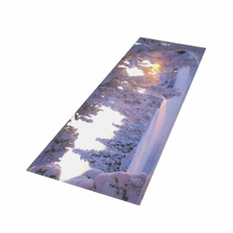 Chinese  8 Styles HD Beautiful Scenery Landscape Carpets Anti-Slip Floor Mat indoor Long floor mats for kitchen sofa bed side manufacturers