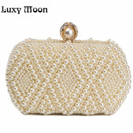 Pearl Clutch Bags Canada - 100% NEW pearls clutch bag luxury diamond evening bags gold clutch silver purse shinny glitter wedding bridal wallets w551