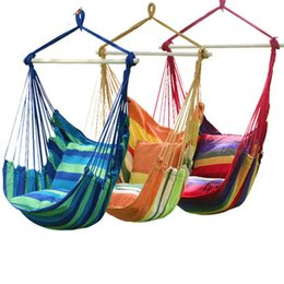 $enCountryForm.capitalKeyWord UK - Fashion Hanging College Chair Indoor Outdoor Furniture Hammocks Thick Canvas Dormitory Swing with 2 Pillows Hammock Camping New