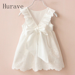 white dresses for girls casual Australia - Solid White Girl Dresses 2018 Summer Style Children's Clothing Dresses For Girl Vestido Infant Girl Clothes