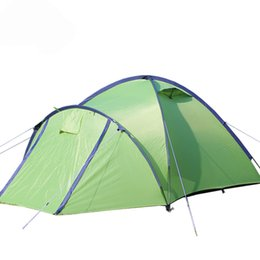 Discount one pole tent - 3persons 1hall 1room professional super good fiber glass pole double layer outdoor camping tent Family tent use for trav