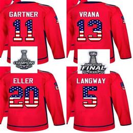 2018 Stanley Cup Champions Men Women Kid Washington Capitals USA Flag Rod  Langway Mike Gartner Jakub Vrana Lars Eller Red Hockey Jerseys 07bfa2427