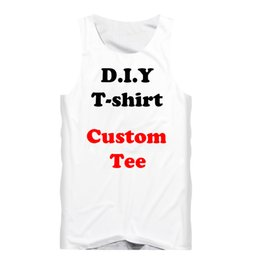 $enCountryForm.capitalKeyWord UK - 3D Print Diy Custom Design Fashion Men Tank Top Fitness Undershirt Womens Sexy Vest Drop Shipping Wholesalers For Drop Shipper