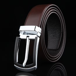 Classic Leather Bags For Men Canada - NEW Arrival 2017 Men Belt Brand Classic Genuine Leather Strap Fashion Belts For men and women with dust bag full package