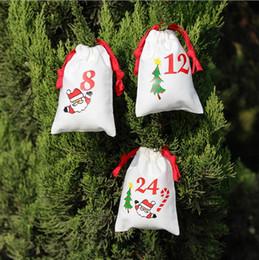 Tea gifT packs online shopping - Christmas drawstring bags cartoon Santa Sack Bags creative gifts bag home cotton candy tea packing Storage bag I365