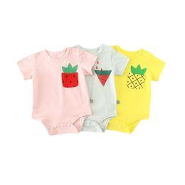 ae90b116e79 Newborn Kids Clothing Baby Boys Girls Infant Fruit Print Bodysuit 2018  Summer Short Sleeveless Jumpsuit Cute Clothes Outfits