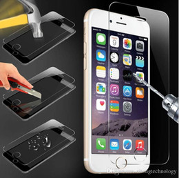 Iphone Glass Screen Guard Australia - 9H tempered glass For iphone 5s 6 6s 7 8 plus screen protector protective guard film front case cover +clean kits