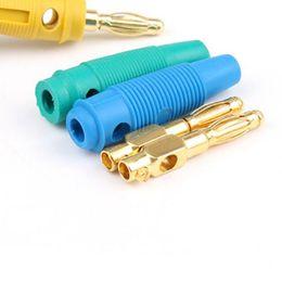 Binding posts speaker online shopping - 20 Gold Plated mm Banana Plug Screw To Speaker Amplifier Binding Post Test Probes Adapters XXM