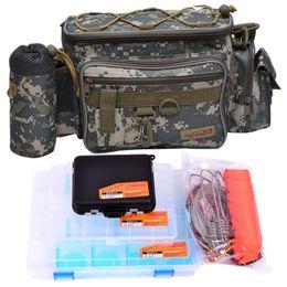 Waist Lure Australia - Tsurinoya Multifunctional Lure Bag Waist Pack Fishing Tackle Box Live Fish Buckle Combination(5PCS LOT)