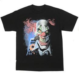 $enCountryForm.capitalKeyWord UK - Joker Clown T-Shirt Scary Cigar Red Hair Bold Horror BABA Short Sleeve Cotton T Shirts Man Clothing White Style
