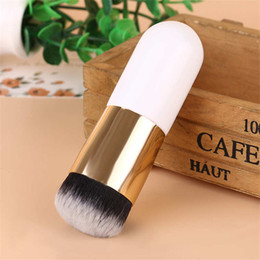Chinese  The new 1pcs small fat white gold foundation brush, blush contour foundation makeup brushes, makeup does not eat powder manufacturers