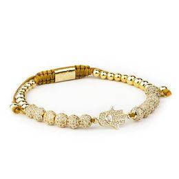 Hommes Bijoux bileklik slivery Couronne Charme Bracelets Bijoux DIY 4mm Perles Rondes Bracelet Tressé Femelle pulseira Zircon en Solde
