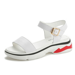 78a1da5cb747 Women s Chunky Ankle Strap Platform Wedges Sneakers Pump Open Peep Toe  Buckle Sandals