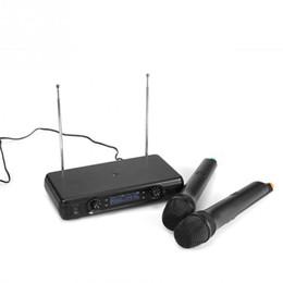 Discount microphone plugs - VHF Handheld Wireless Dynamic Microphones + LCD Receiver Karaoke Singing System EU Plug