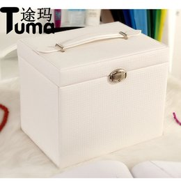 Big Storage Boxes Australia - 2017 New Fshion leather Five layers Super Large Capacity Big Butterfly Jewelry Box Cosmetic Box Jewelry Storage Box
