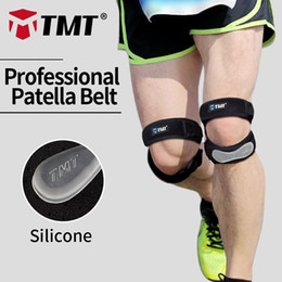 patella knee protector 2019 - TMT Honeycomb Meshed Breathable Adjustable Sports Climbing Basketball Knee Support Brace Sleeve Patella Guard Protector