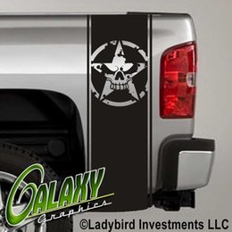 $enCountryForm.capitalKeyWord Australia - For Universal 1Set 2Pcs Army Star Skull Military Decal Truck Bed Stripes (Pair) - Ram Chevy Ford
