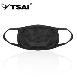 dust free face masks 2019 - TSAI 1pc Unisex Mens Womens Cycling Anti-Dust Cotton Mouth Face Mask Respirator free shipping cheap dust free face masks